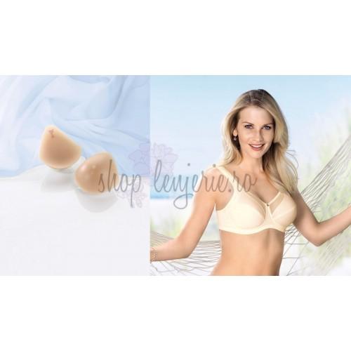 Set Proteza forma intreaga TriVaria 1043X si Sutien post-mastectomie Valentina 5728X