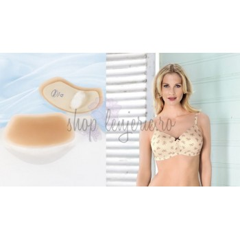 Set Proteza Sequitex Trapez 1045X si Sutien bilateral post-mastectomie cu buzunare pe ambele parti Miss Ribbon 5733X