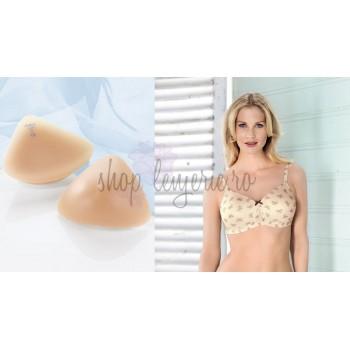 Set Proteza simetrica TriWing 1053X si Sutien bilateral post-mastectomie cu buzunare pe ambele parti Miss Ribbon 5733X
