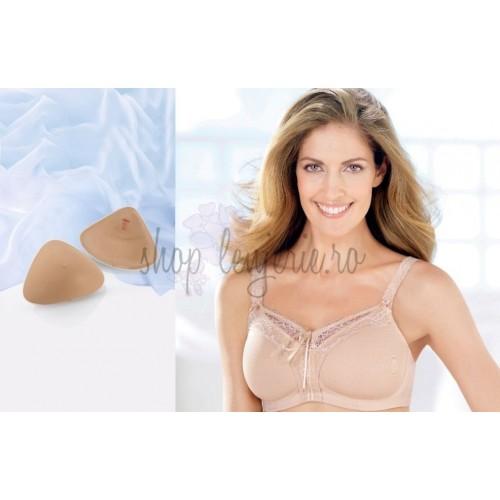 Set Proteza de silicon usor Softback 1050X si Sutien post-mastectomie cu buzunare pentru protezele de san Camy 5773X